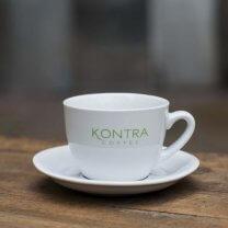Cappuccino kop med underkop, 18 cl