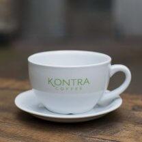 Caffè Latte kop med underkop, 32 cl