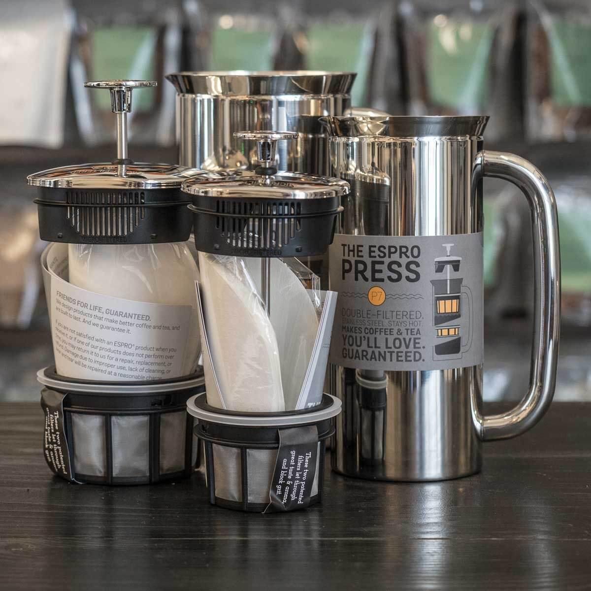 Espro P7 Stemplekande Blankpoleret Stl Press Medium 530ml Stempelkande 02