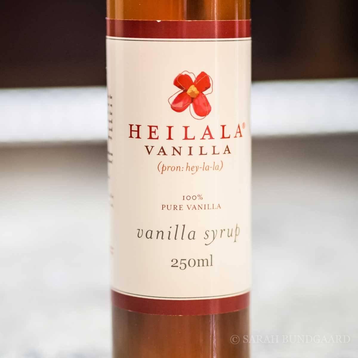 Heilala Vanilla, Vanilje sirup 250 ml.