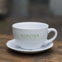 Caffe Latte kop m. underkop - big