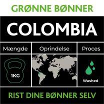 Colombia Grønne Bønner 1kg