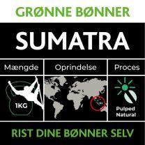 Grønne bønner: Sumatra 1 kg